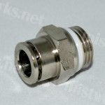 """quick connect, slip lock fittings for tube 3/8"""" 1/4"""" nickel plate"""