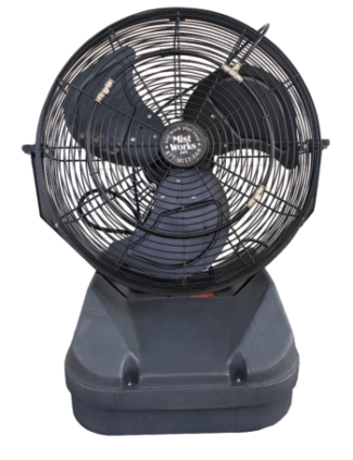 Patent Pending Mist 2 go Table top portable misting fan High Pressure, no tank required