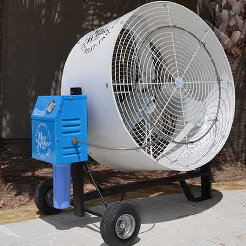 The BLIZZARDu201d Portable Misting Fan