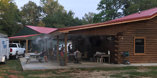 Mississippi camp misting system and fans by Mist Works