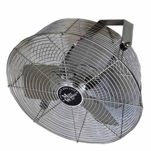 18 inch outdoor stainless steel fan & bracket