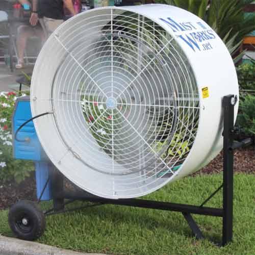 36 inch mist fan Blizzard high pressure pump, wheeled cart