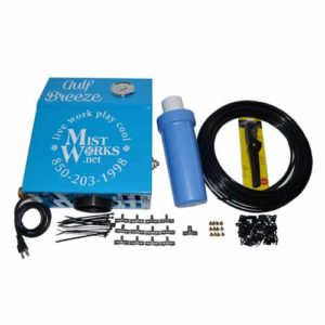 high pressure patio misting kit with pump - nozzles