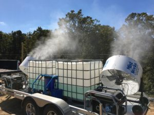 mobile misting trailer cooling odor control
