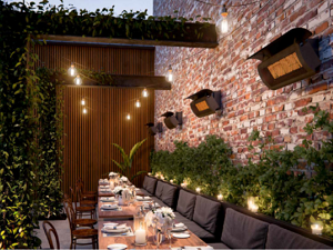 Bromic Wall heaters perfect for restaurants and patios-Mist Works