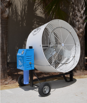 "Misting Fan 36"" Industrial Blizzard High PRessure portable mist fan cool off in usa breeze"