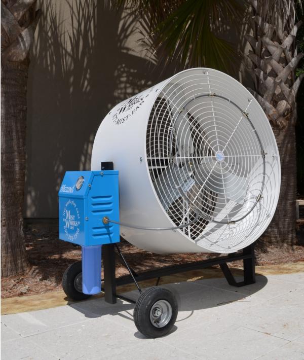 """Misting Fan 36"""" Industrial Blizzard High PRessure portable mist fan cool off in usa breeze"""
