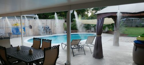 residential pool patio misting system fans high pressure pensacola
