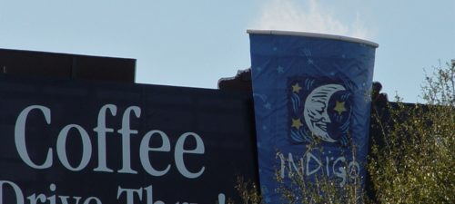 indigo coffee billboard fog effects Mist Works
