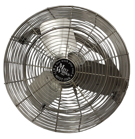 Stainless Steel oudoor fan with misting ring