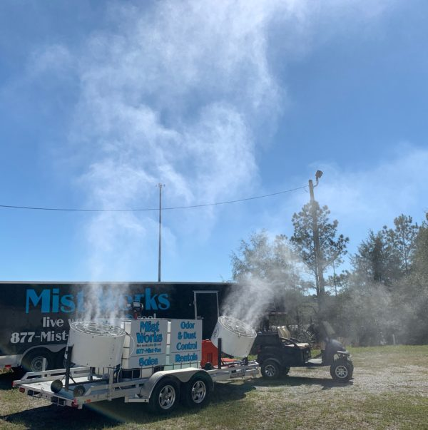 Mobile Mist Trailer- Diesel Mist Works Fans Odor control, Outdoor Cooling
