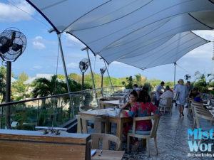 Seafire Resort Grand Cayman Mist Works mist fans outdoor dining 2019 sm