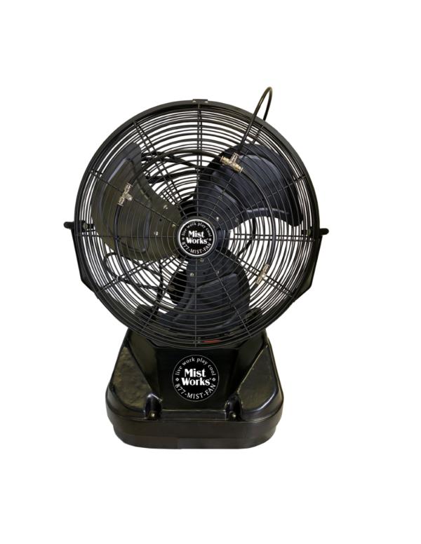 Mist 2 Go Table Top Portable High Pressure Misting Fan Black Patent Pending 2019