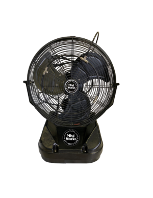 Mist 2 Go Table Top Portable High Pressure Misting Fan Black Patent Pending 2019