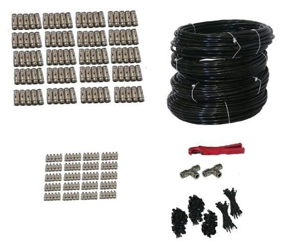 100 nozzle misting kit