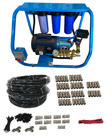 misting kit pump 50 nozzles high pressure PHD Mist Works