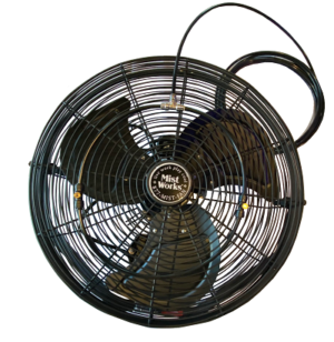 Low Pressure Misting Fan Black Epoxy
