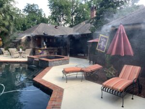 Residential Patio misters by Mist Works Louisiana