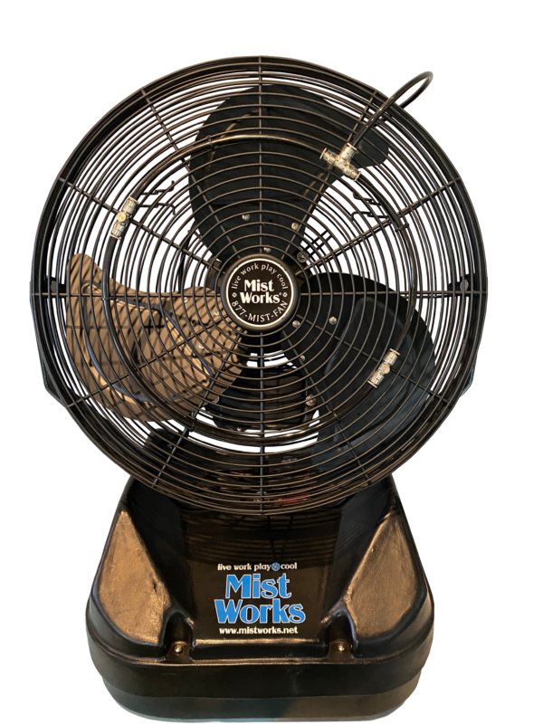 Portable High Pressure Misting fan Table top - no surface wetting