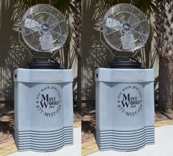 set of 2 portable high pressure misting fans sports Mister fans