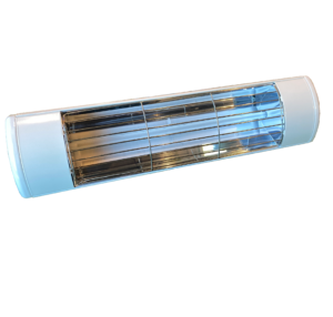 HLWA15 White Frosted bulb patio heater