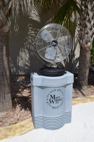 Mist Works portable SPORTS MIST misting fan 304 SS