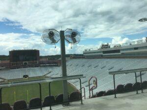 FSU Stadium Alumni Seats Misting Fans Mist Works