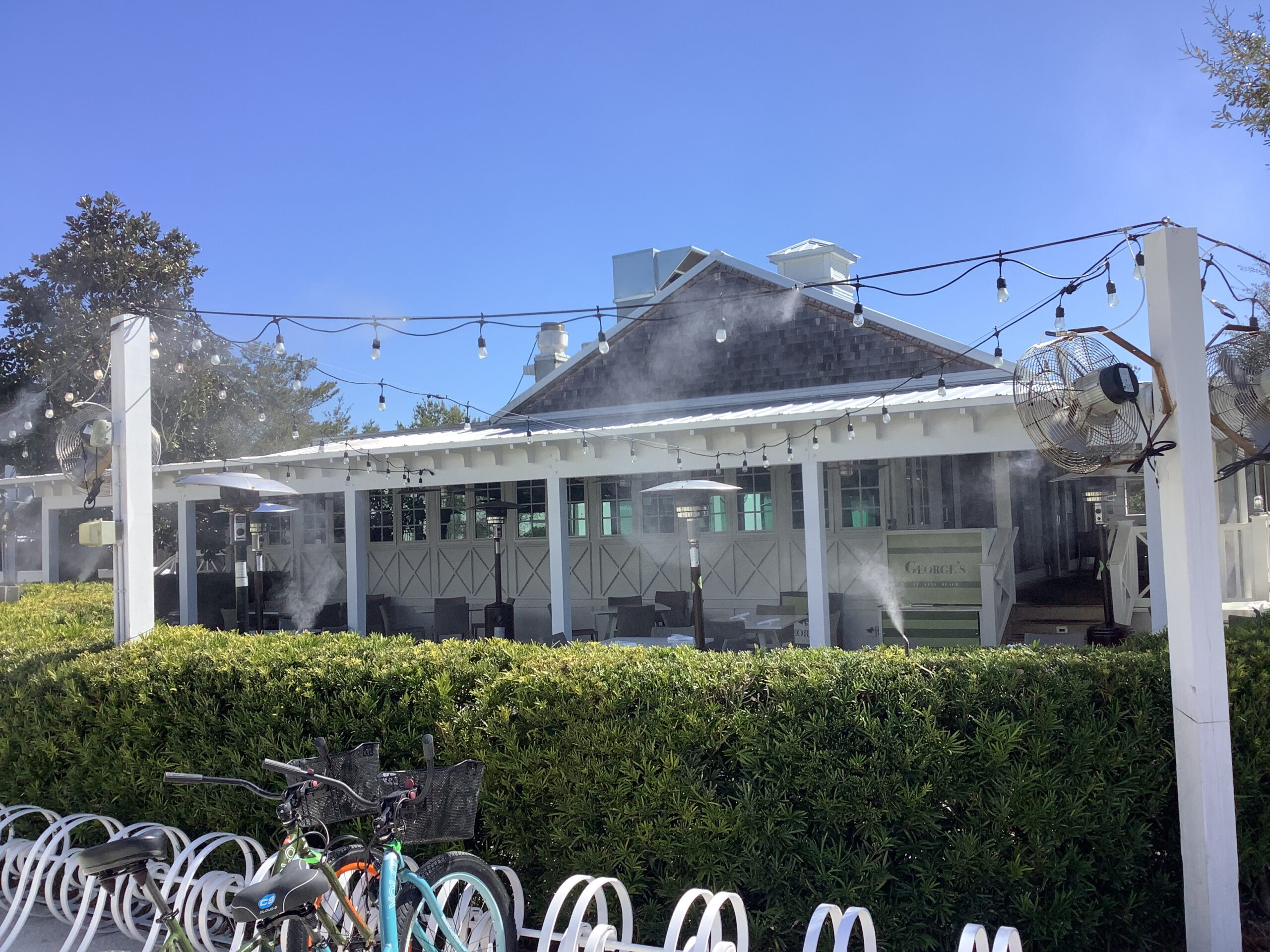 Georges at Alys Beach Mist Works patio Misters Mist Works 30A