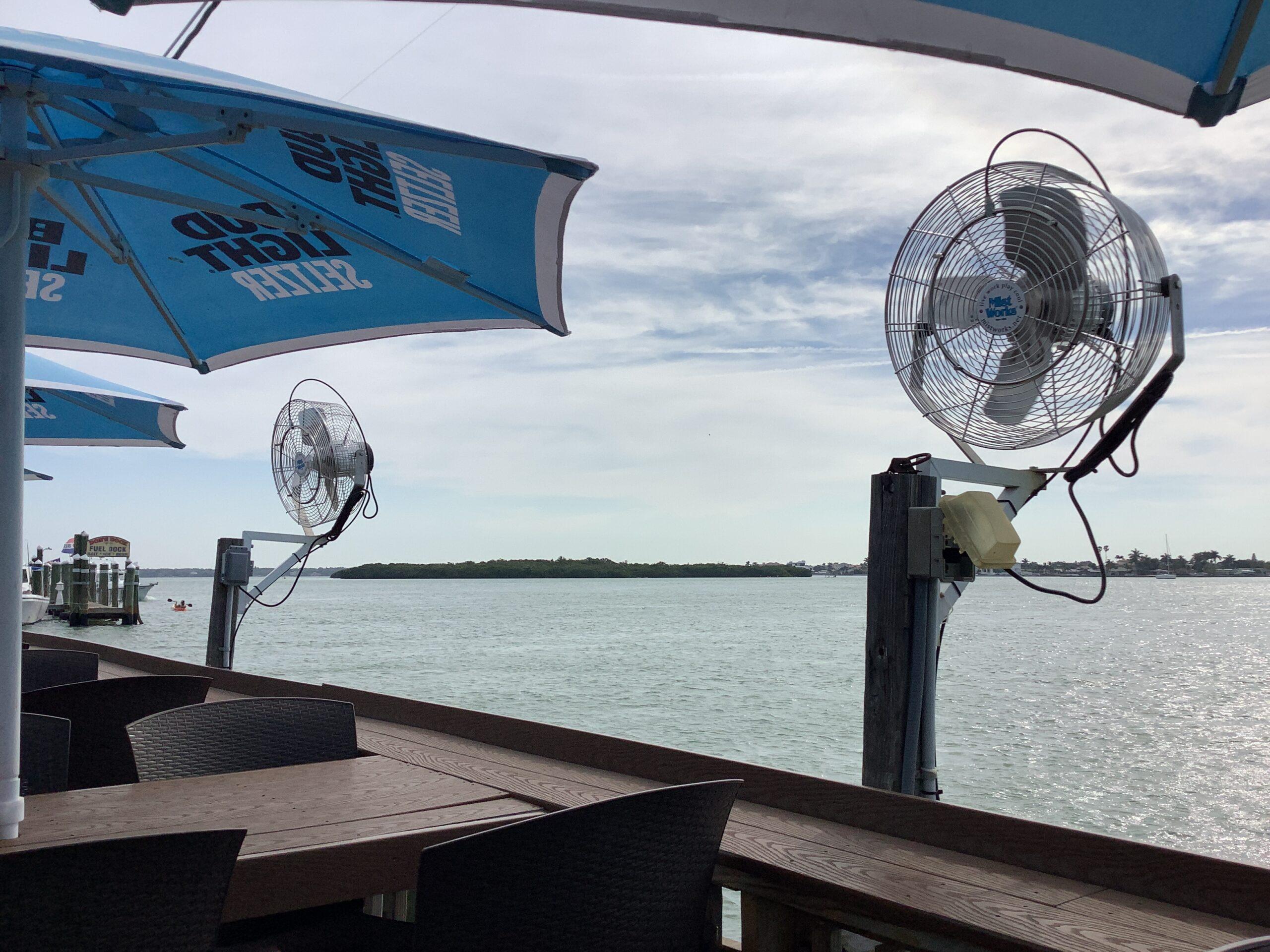 Sculley's Madeira Beach Mist Works Restaurant Misting system 2021 Florida
